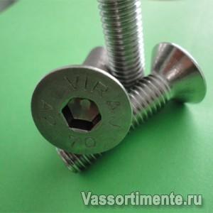 Винт нержавеющий М6х30 мм А4 DIN 7991